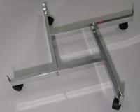Gridwall Base 4 Way With Castors Chrome Lot of1