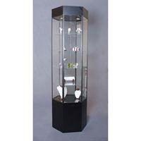 Glass Tower Jewelry Display Case Cabinets Showcase