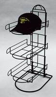 3 Pocket Hat Cap Counter Display Fixture Black