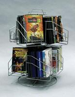 8 Pocket Dvd Cd Counter Spinner Display Rack