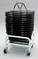 Mobile Shopping Mesh Basket Cart Rack