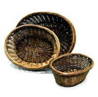 17 Inch Low Oval Shape Willow Basket