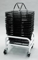 Stand Rack Cart Storage Rolling Black