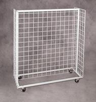 Mobile Island Display Grid Shelves Only