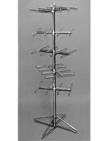 5 Tier Floor Spinner Rack Peg Hook Adjustable