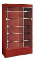 Wall Case Showcase 5 Adjustable Shelves CHERRY