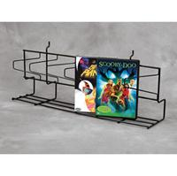 Gridwall ANGLED DVD SHELF Faceout Slatgrid