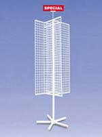 4 way Grid Spinner Merchandise Floor Standing