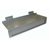 Silver Slatwall Panel Metal Shoe Shelf Signage