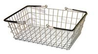 Wire Shopping Baskets Vinyl Coated