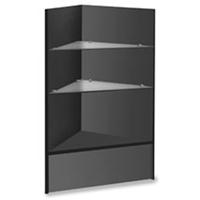 Corner Merchandise Case Knockdown Glass Shelve