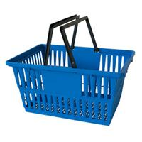 Shopping Cart Individual Plastic Basket Blue