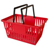 Retail Shopping Cart Individual Plastic Basket