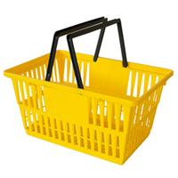 Shopping Cart Individual Plastic Basket Yellow