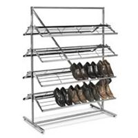 8 Shelf Shoe Merchandiser Rack Double Sided Shoe