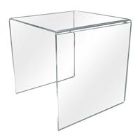 Individual 12 Inch Clear Acrylic Display Cube