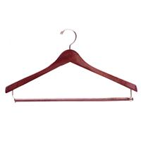 H100 Series 17 Inch Wood Suit Hanger