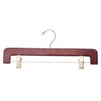14 Inch Wood Pant And Skirt Hanger Walnut