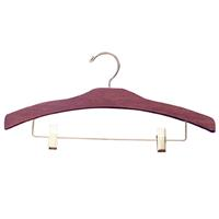 16 Inch Wood Pant And Skirt Hanger Walnut