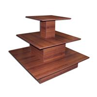 3 Tier Square Waterfall Table Merchandise CHERRY