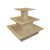 Maple Table 3 TIER Level Square Merchandise