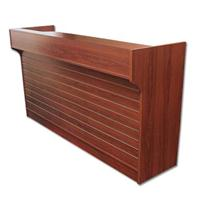 6' Ledgetop POS Sales Counter Slatwall Front