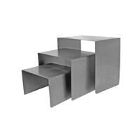 Cube Set Raw Steel 3 Cubes