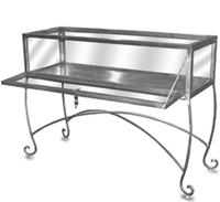 Raw Steel Jewelry Case Store Display With Lock