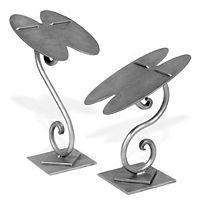 Raw Steel Double Shoe Counter Display 8 Inch High