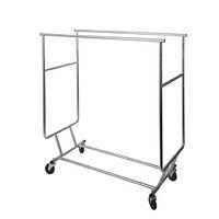 Chrome Collapsible Double Round Tubing Rack