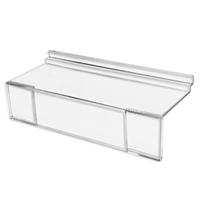 4 Inch Acrylic Slatwall Shoe Shelf sign Holder