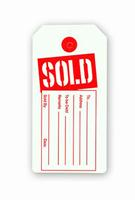 1000 Store Merchandise Red SOLD Tag No String