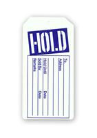 HOLD Tag No String Sale Purchase Merchandise