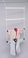 Tubular Shirt Ladder Clothing Rack Display