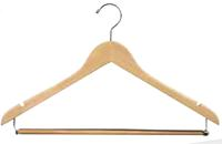17 Inch Wide Solid Wood Deluxe Suit Hanger
