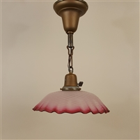Vintage French Glass Shade on Vintage Hardware (SOLD)