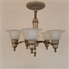 Five Light Chandelier with Glass Shades