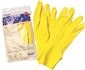 RENOWN FLOCK LINED LATEX GLOVES, LARGE, YELLOW, 18 MIL, 12 PAIR PER PACK