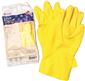 RENOWN FLOCK LINED LATEX GLOVES, EXTRA LARGE, YELLOW, 18 MIL