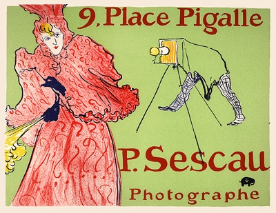 Toulouse lautrec sescau photographe vintage french poster for Divan japonais poster value