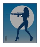 Marco Almera Machine Gun Original Fine Art Print