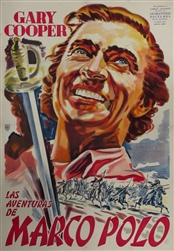 The Adventures Of Marco Polo Original Argentine One Sheet
