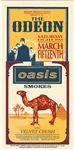 Mark Arminski Oasis Original Rock Concert Handbill