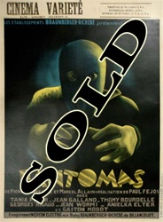 Fantomas Original Belgian Movie Poster