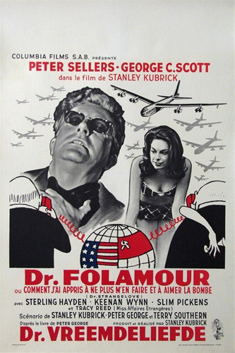 a review of dr strangelove a movie by stanley kubrick Stanley kubrick, collaborating on the script with terry southern and peter george , deliberately warped george's  peter sellers in dr strangelove, or: how i  learned to stop worrying and love the bomb dvd review.