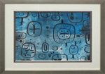 Tim Biskup Blue Saturn Pattern Original Painting