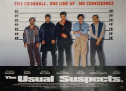 British Quad The Usual Suspects Original Movie Poster