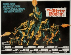 British Quad The Dirty Dozen Original Movie Poster
