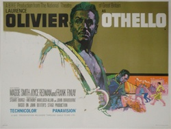 British Quad Othello Original Movie Poster