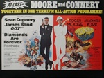 British Quad Diamonds Are Forever Combo Original Movie Poster